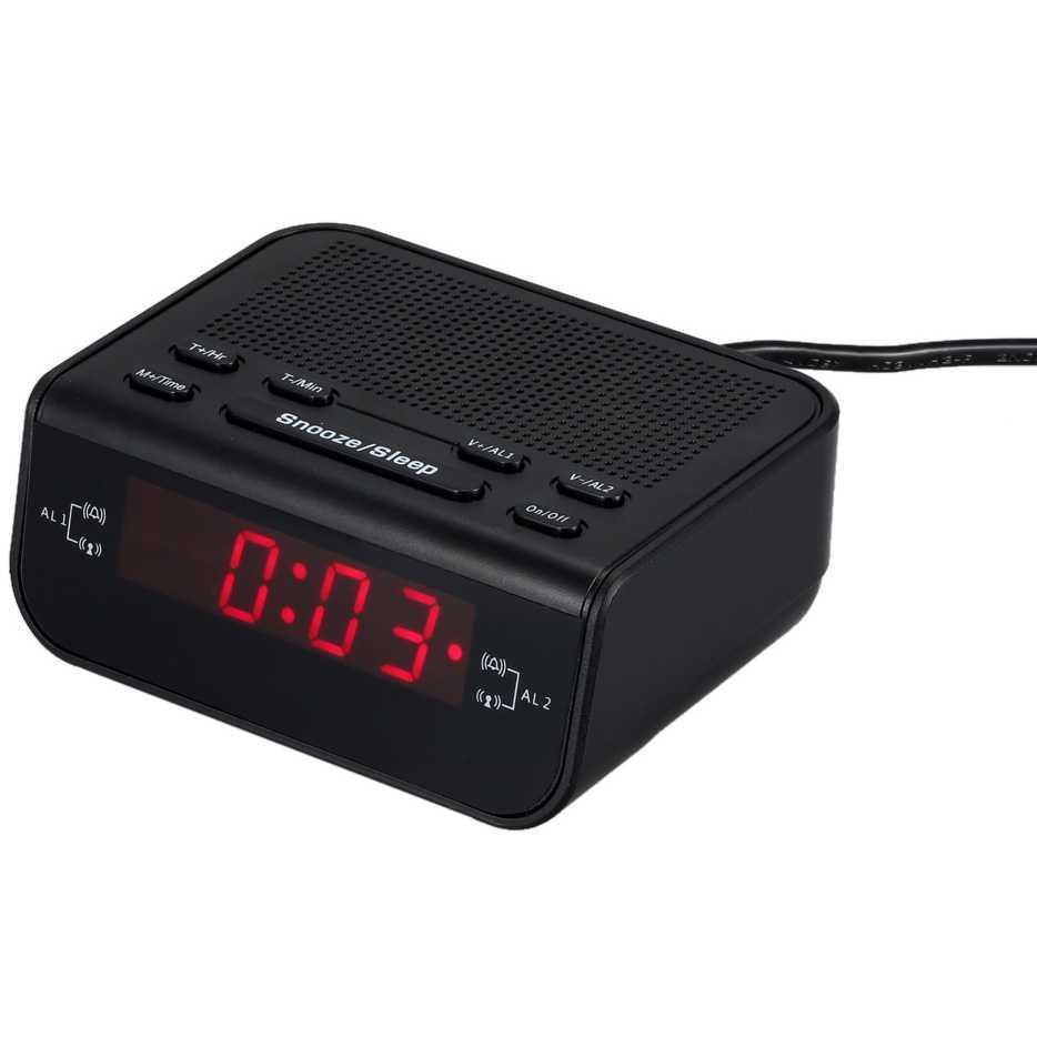 PROMO MURAH Jam Meja Unik Keren Jam Meja LED Digital Clock dengan FM Radio  Terlaris 8c02495709
