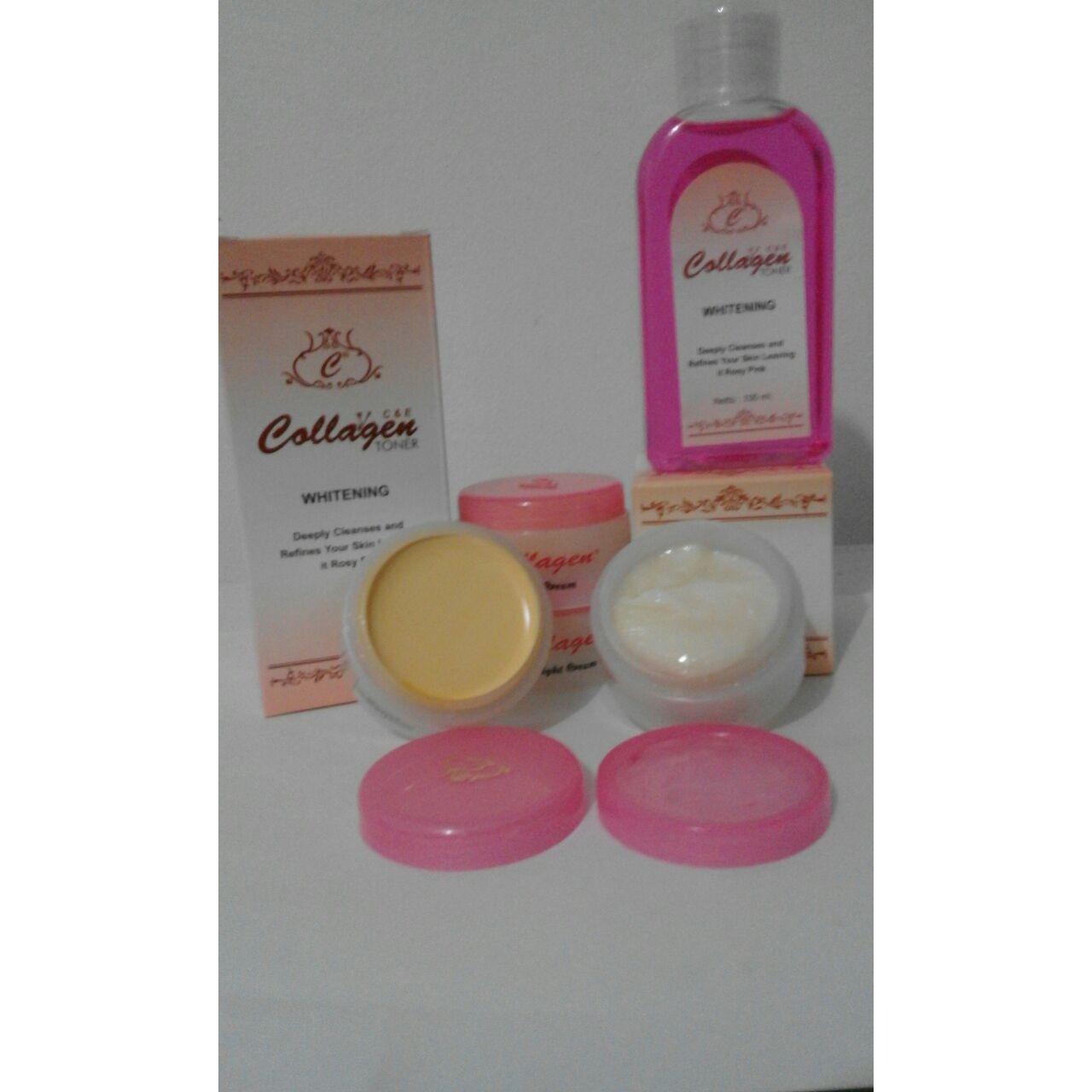 Harga Eceran Collagen Abe Termurah 2018 Bibit Original Netto 150ml Paket Hemat As Cream Day Night Toner Plus Vitamin E