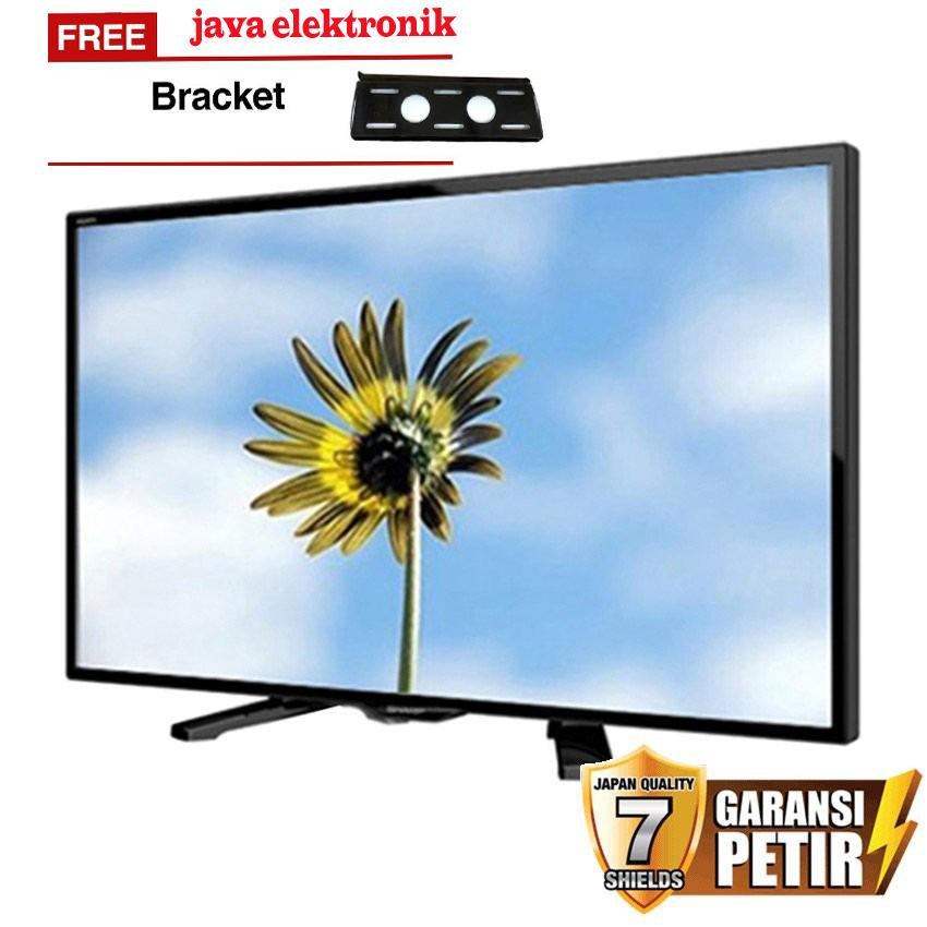 Sharp 24 inch LED AQUOS HD TV - Hitam (Model LC-24LE170i) FREE BREKET TV