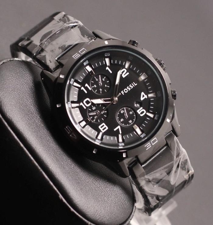 JAM TANGAN PRIA FOSSIL RANTAI CHRONO VARIASI BLACK   Fashion Pria   Jam  tangan Pria Keren 27767e758d