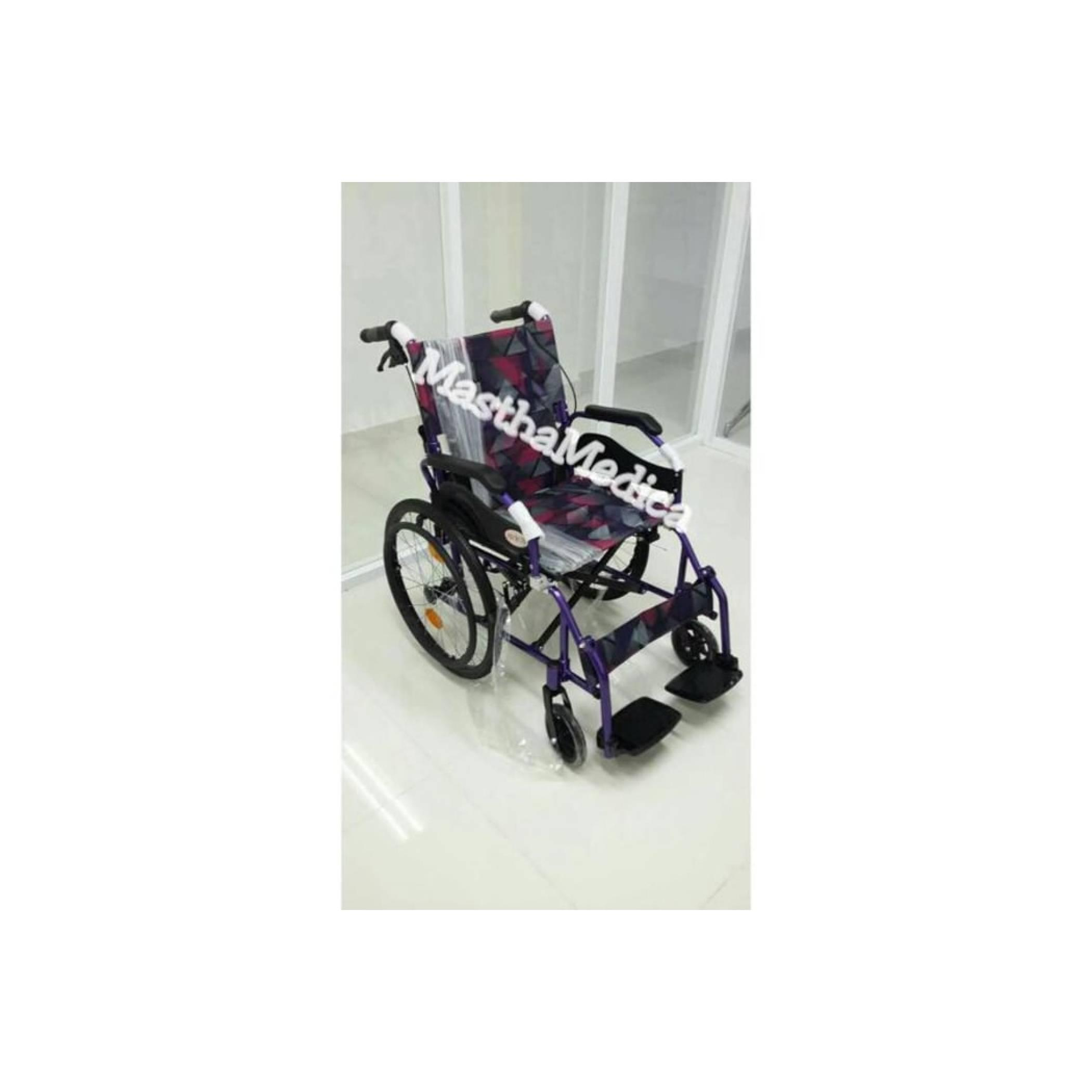 Kursi roda Travel Traveling Umroh / Haji Athena AVICO + Rem Pendorong