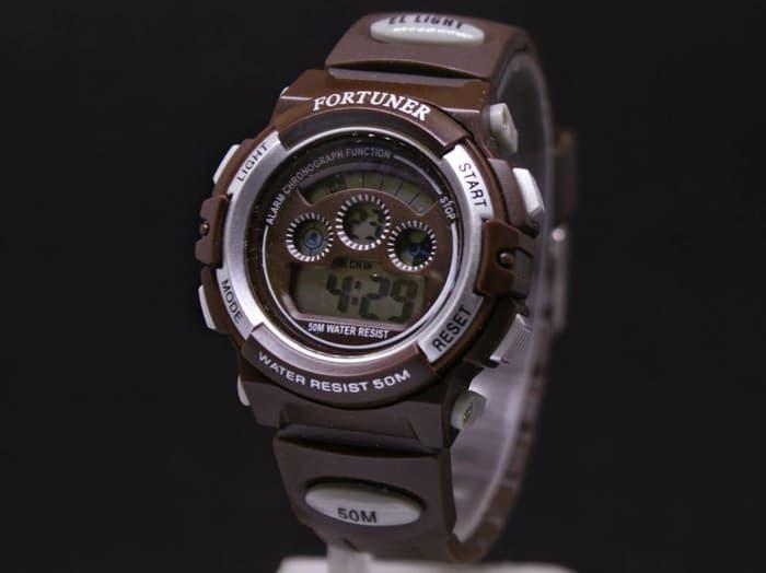 Jam tangan pria / Jam Tangan Wanita / Cewek Original Fortuner FR1106 Rubber Brown DISKON MURAH