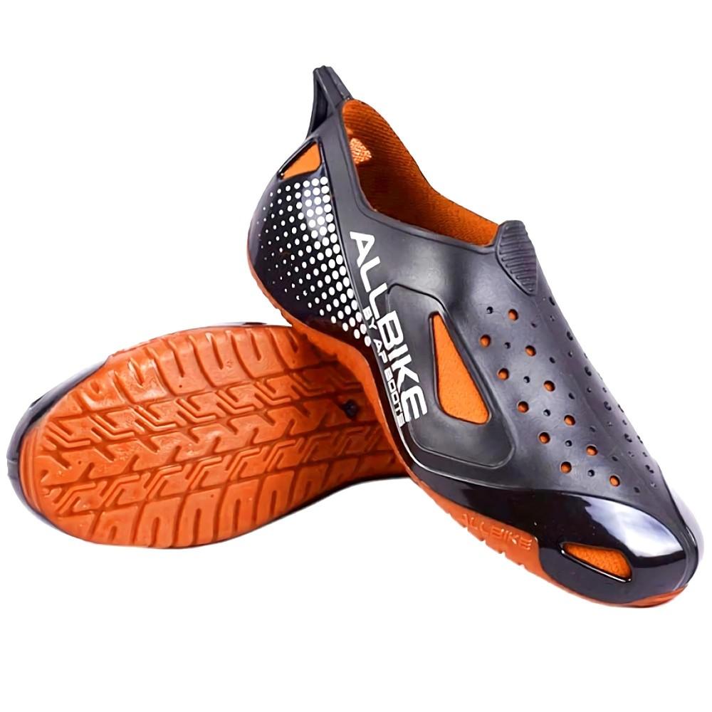 ALL BIKE Sepatu Slop [Uk. 39-43] RE  Outdoor Shoes Sepeda Motor AP Boots Hiking Anti Hujan Waterproof Oranye