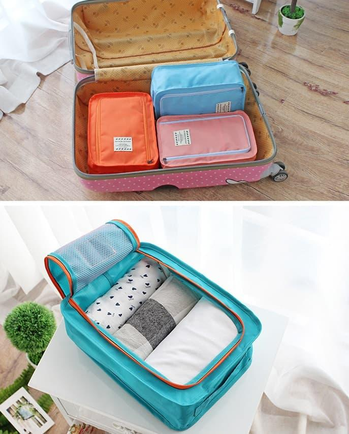 Detail Gambar Korea Colorful shoes pouch travel ver 3 / tas sepatu / bag organizer /
