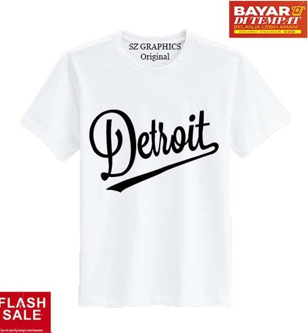 Detail Gambar Sz Graphics Detroit T Shirt Pria Kaos Pria T Shirt Kaos Distro Pria Kaos