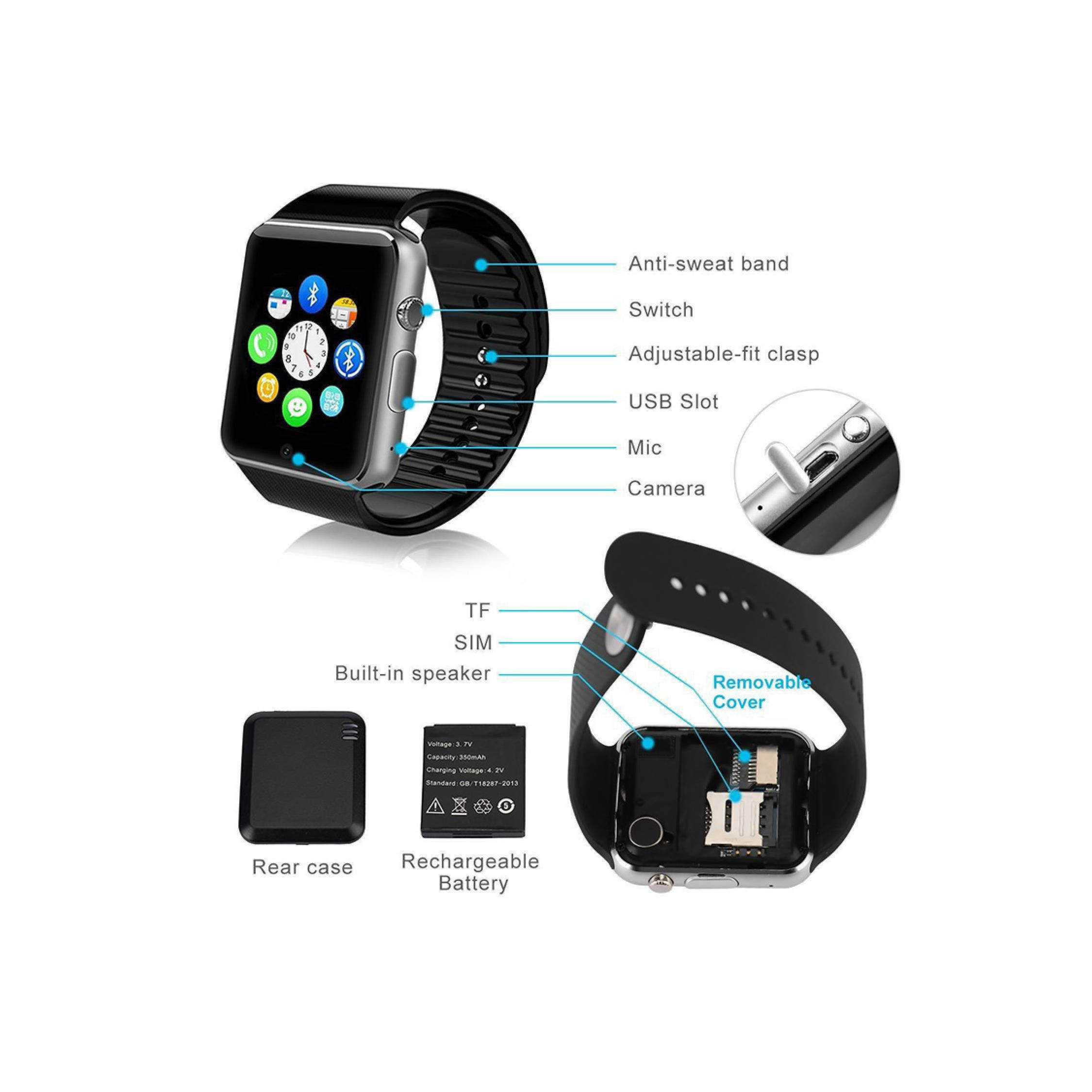 Smartwatch A1 G-08 G08 mirip Apple Watch Jam Tangan Pintar Pria Wanita