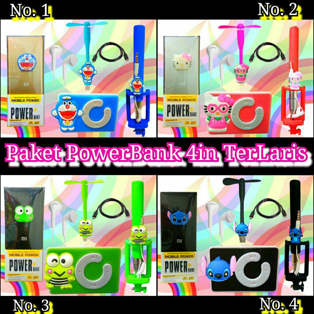 Paket Special Karakter Keropi 3in Powerbank Boneka Charger Tongsis Hemat Minnion Superwide Slim 4in Mp3 Kipas Usb