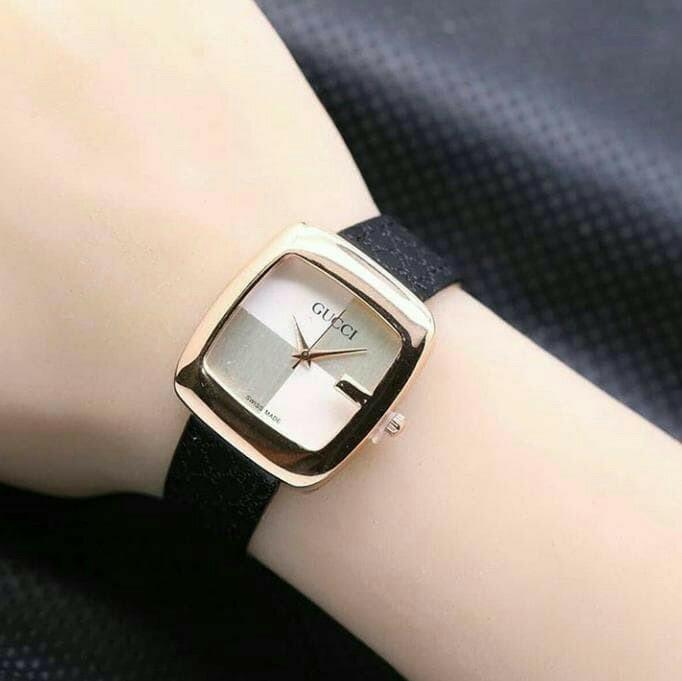 jam tangan wanita termurah bahan kulit / jtr 890 hitam / Jam tangan wanita / jam