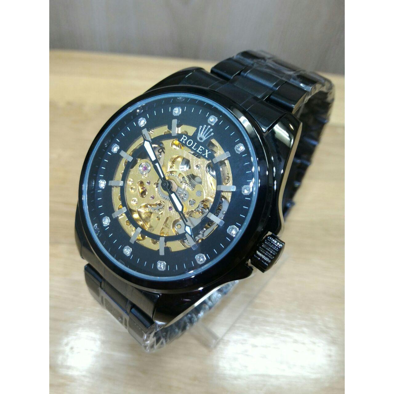 Jam Tangan Rolex-Automatic - Jam Tangan Formal Pria - Stainless Steel - jam tangan pria casual