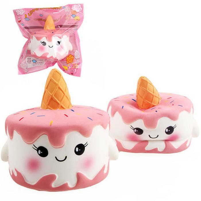 Squishy jumbo slow rising model kue unicorn / squishy cake unicorn