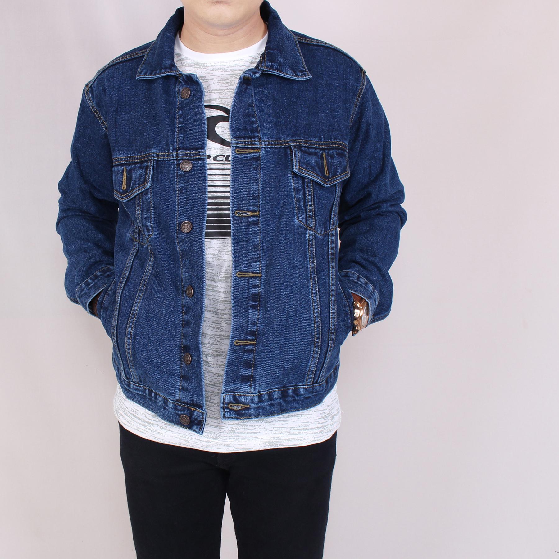 Fitur Awf Jaket Jeans Denim Pria Terbaru Washing Dan Harga Terkini Panjang Zoeystore1 5732 Lengan Casual Higt Quality Blue