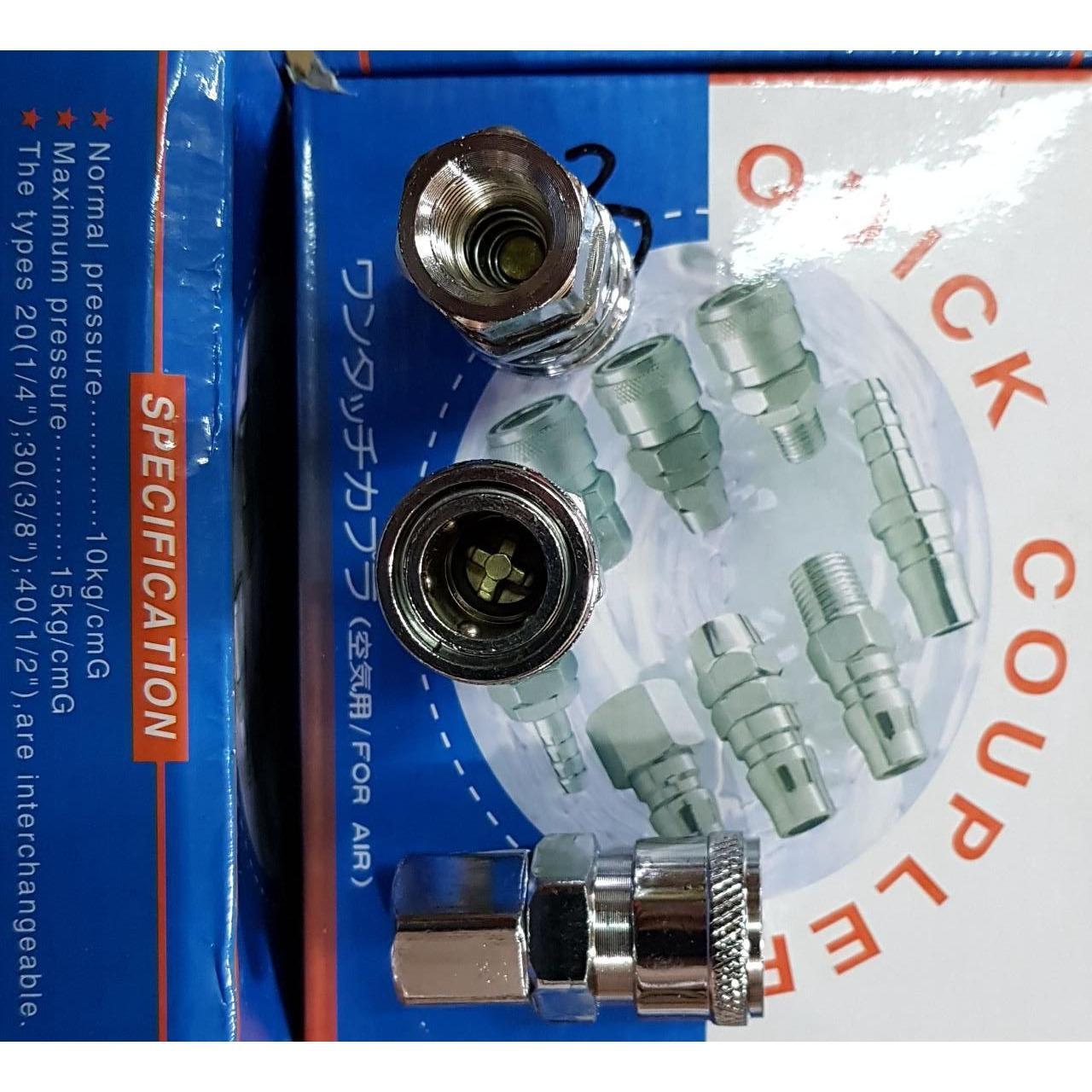 Cek Harga Baru Tekiro Quick Coupler Two Touch 20 Sh Fitting 20ph Air Sf Sambung Selang Kompresor Recoil Cuk Kopler