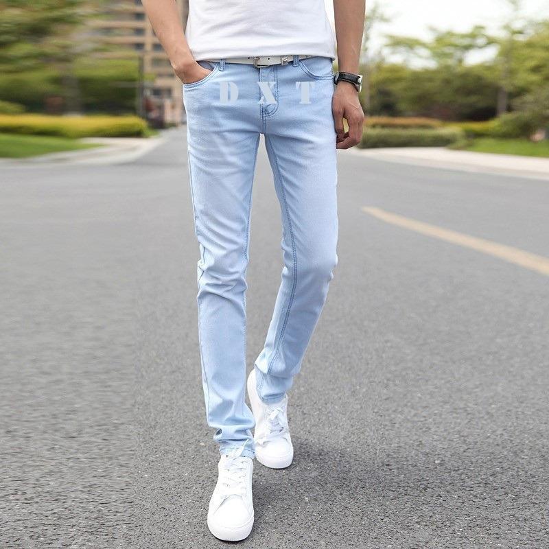 Cek Harga Baru Celana Jeans Pria Skinny Fit Light Blue Biru Muda