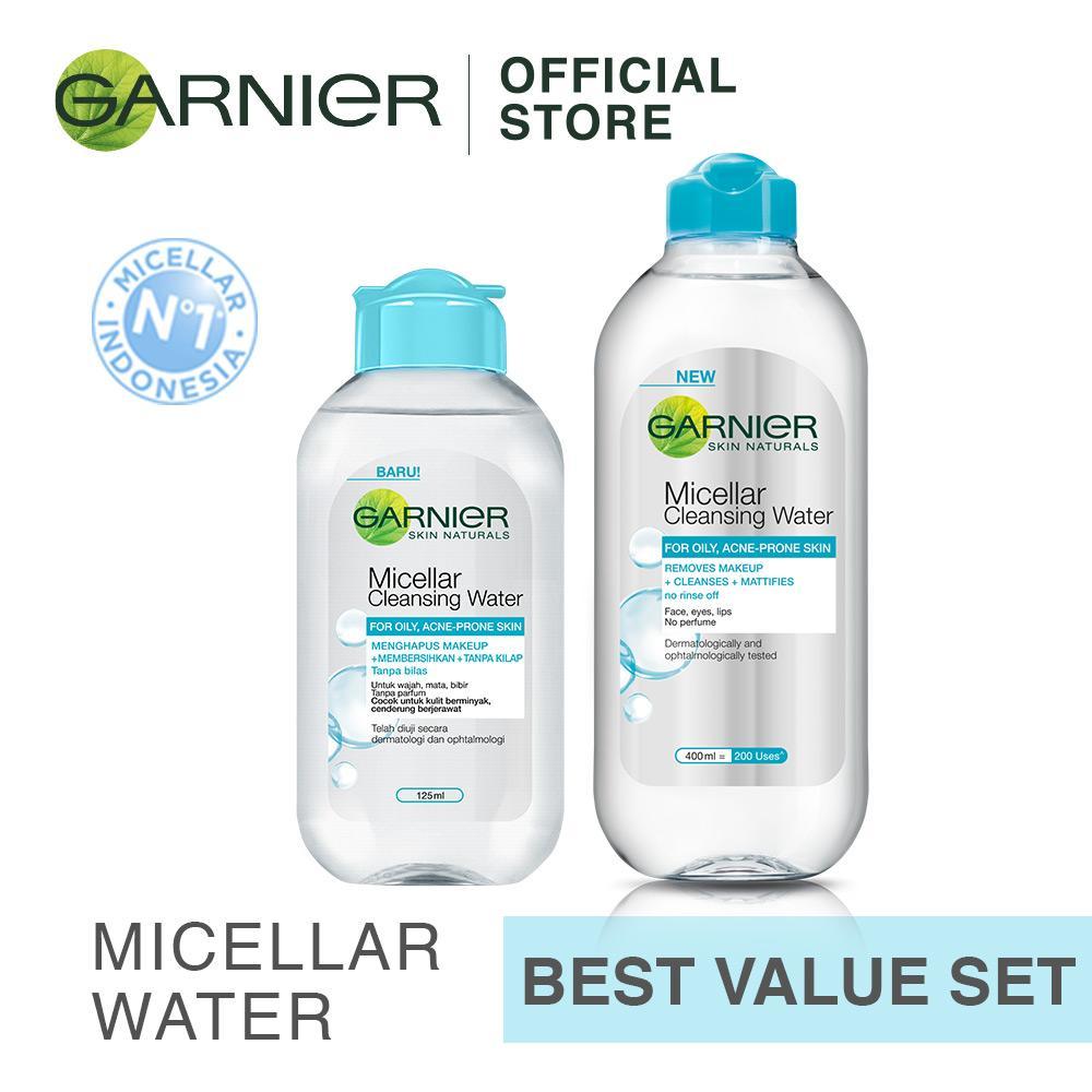 Jual Beli 1 Gratis 1 Garnier Micellar Water Blue For Oily Skin Branded Original