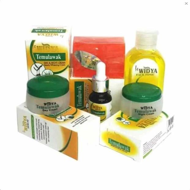 Paket Perawatan Wajah Cream Temulawak Widya Dus Putih BPOM - Cream Siang Cream Malam Sabun Toner