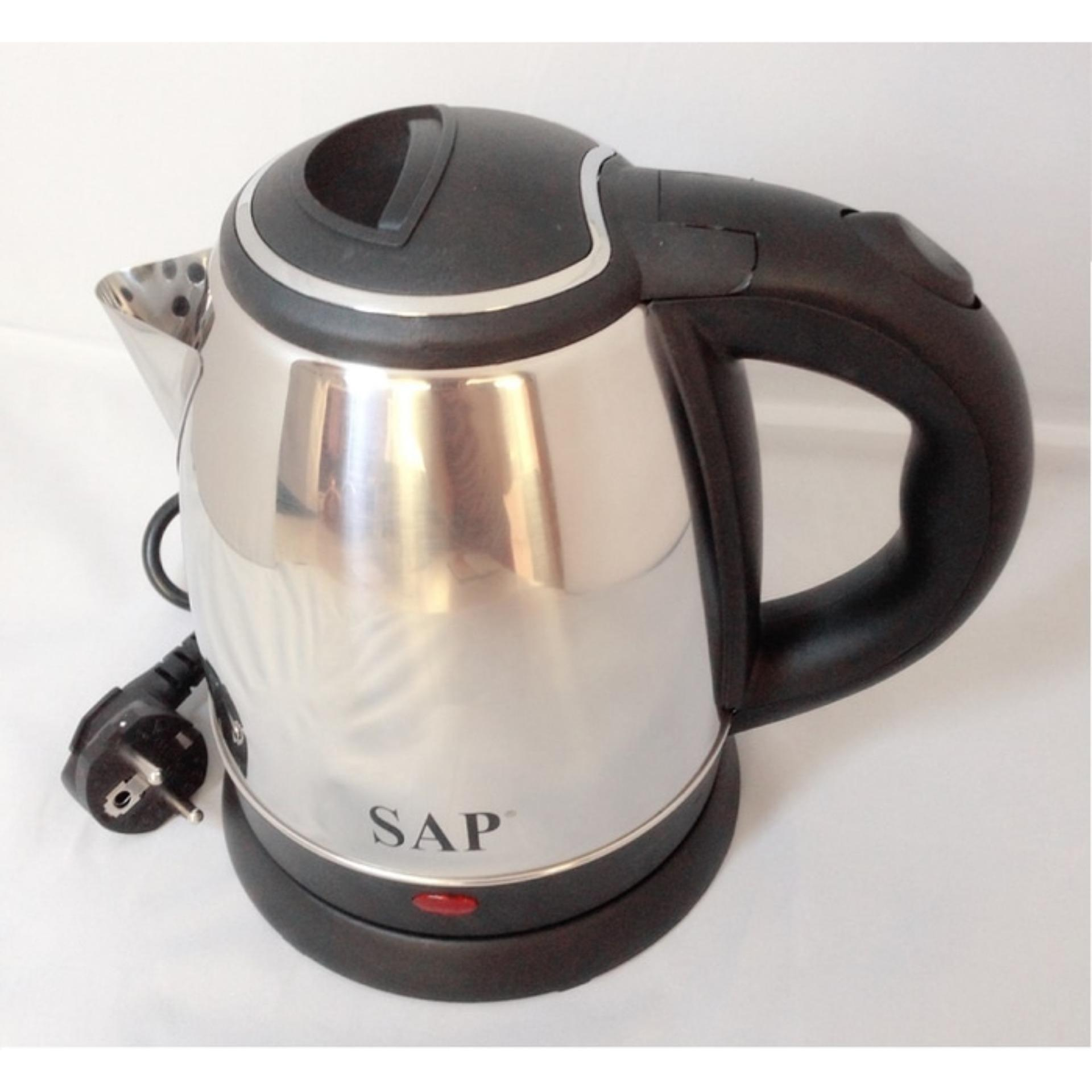 UTEL - SAP Kettle Listrik Stainless Low Watt 1 Ltr SAP-899 - Silver