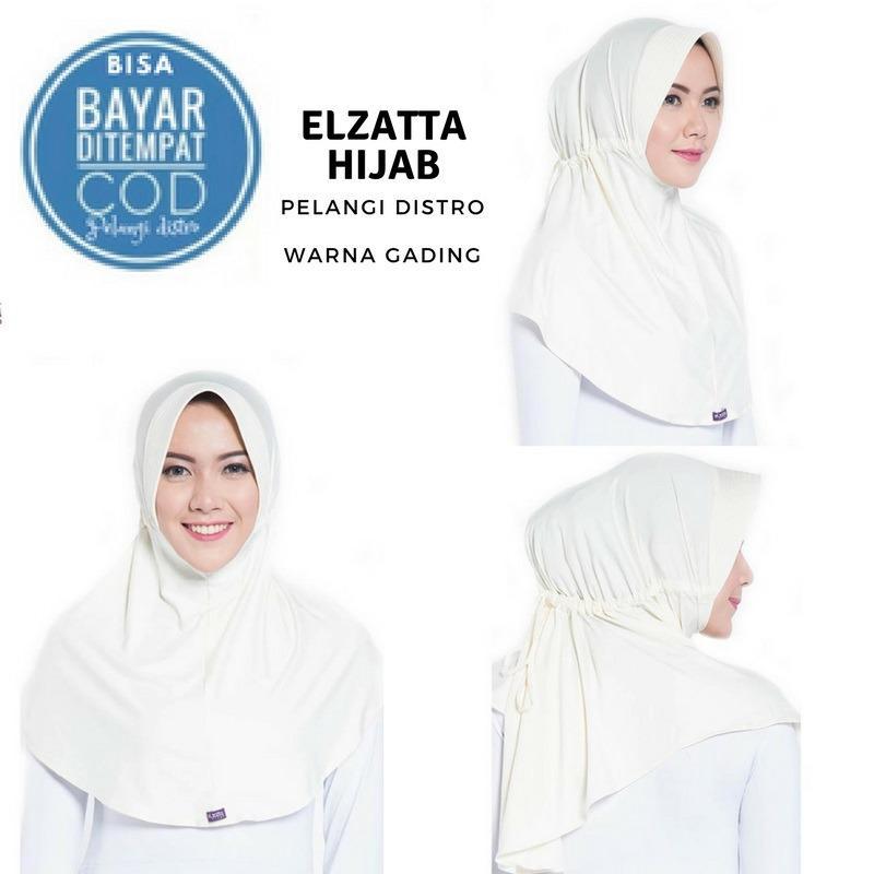 Elzatta Hijab Branded Orginal  / jilbab Hijab Instan / Bergo / Kerudung