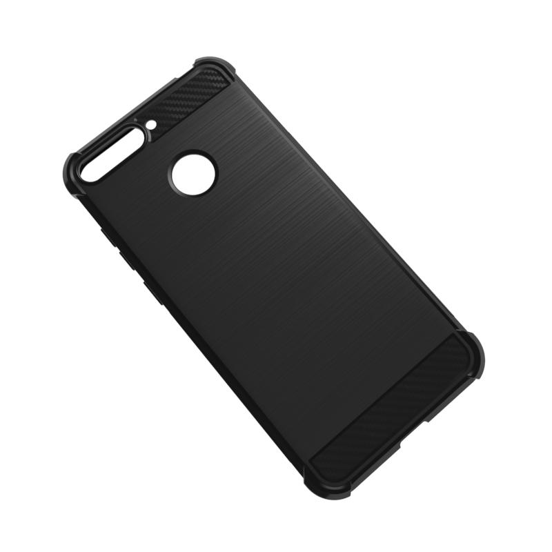 Caselova Corner Protection Cushion Premium Carbon Shockproof TPU Case For Huawei Honor 7A - Hitam + ...