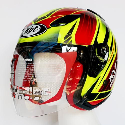 Detail Gambar KYT DJ MARU WORLD GP READY #2 YELLOW FLO Terbaru