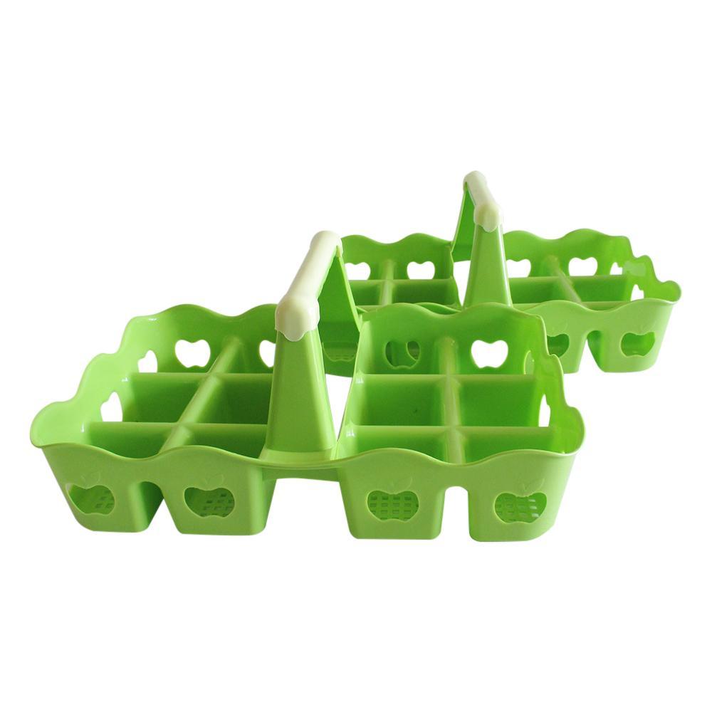 Mitra Loka Rak Aqua Plastik Set 2Pieces Isi 12 Gelas Motif Buah / Rak Aqua /