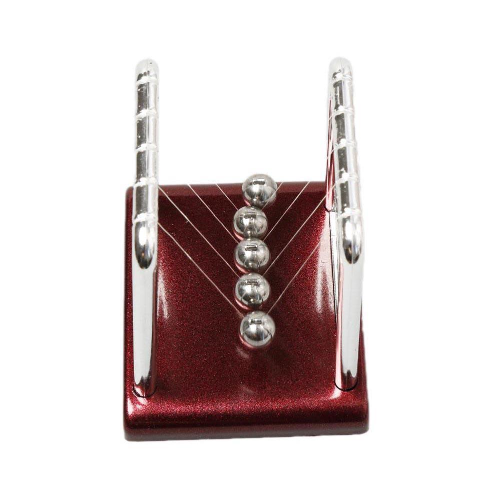 Detail Gambar Pajangan Meja Pendulum Newton Size S - Brown Terbaru