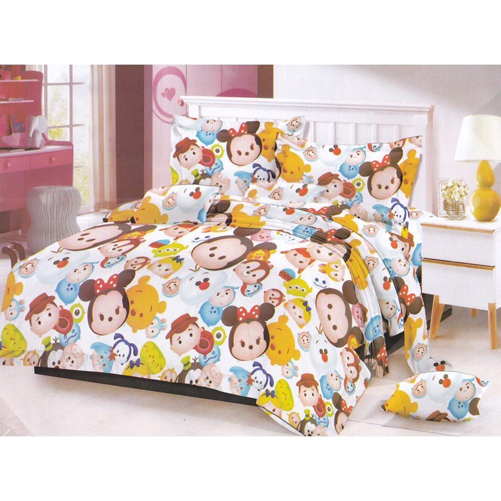 Cara Beli Fairmont Tsum Tsum Bedcover Sprei 160X200X20Cm Queen Size