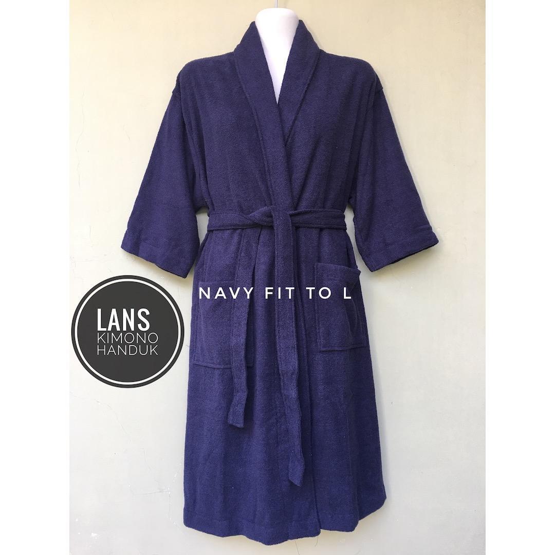 Toko Kimono Mandi Handuk Jubah Mandi Lans Size L Untuk Wanita Dan Pria Dewasa Lengkap