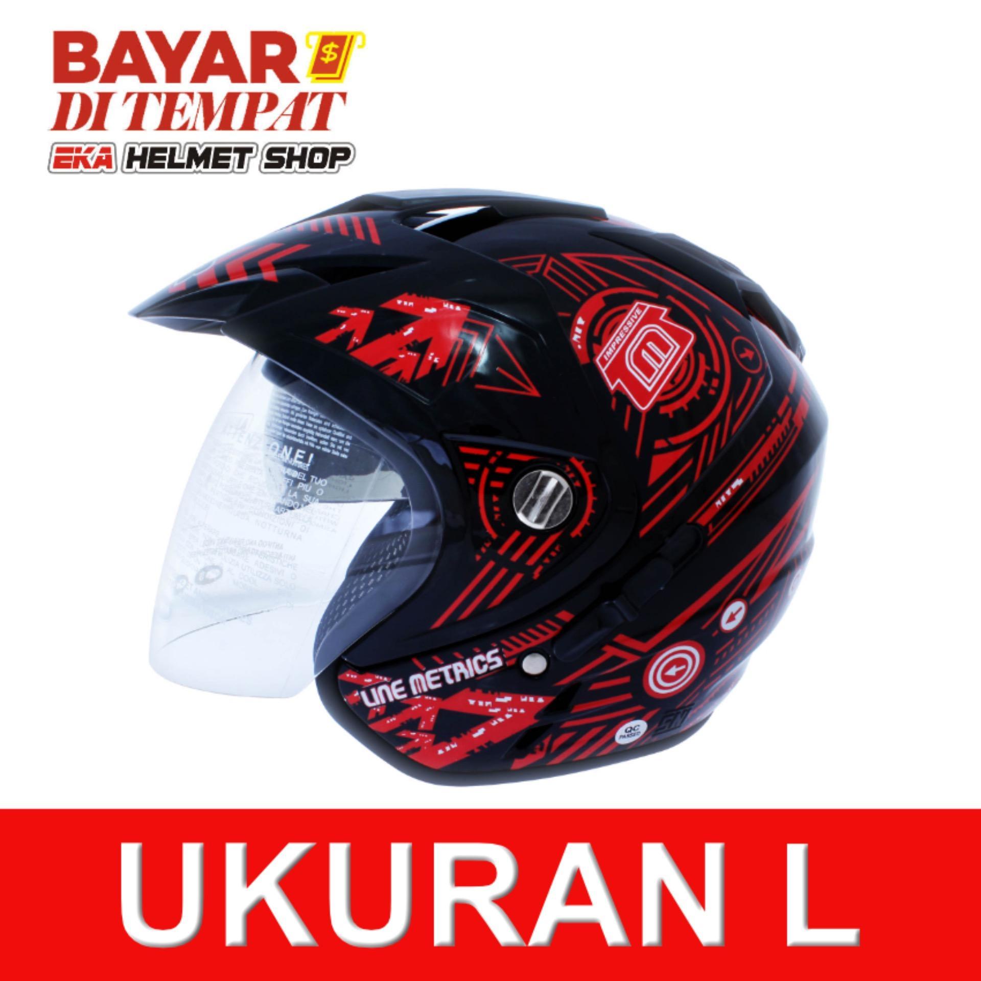 Beli Msr Helmet Impressive Line Matrix Double Visor Hitam Merah Murah