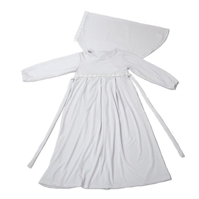 BAJUYULI - Baju Muslim Anak Jersey Murah Polos Cantik Putih ST01 - 2 ...