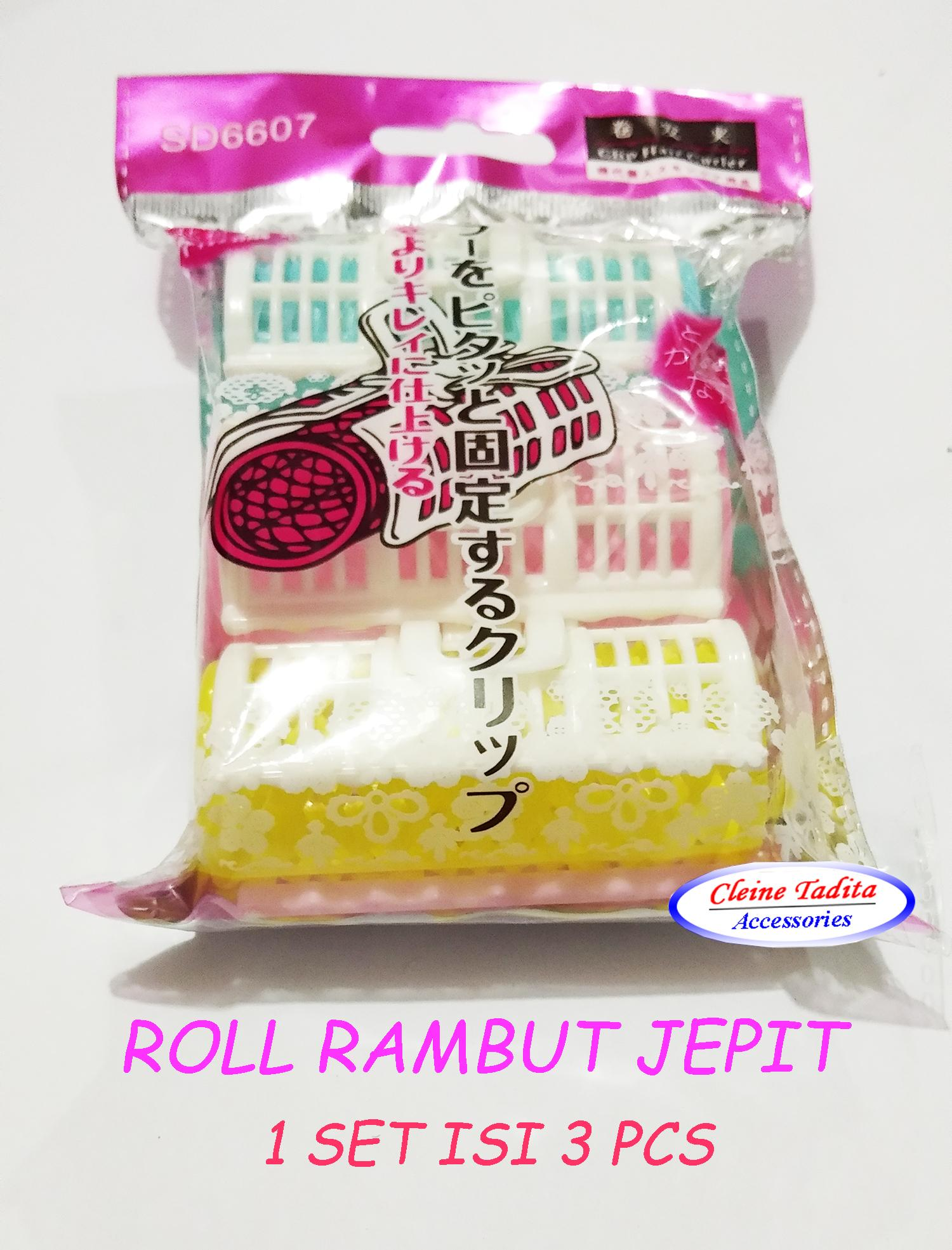 Detail Gambar Roll Rambut Jepit (1 set isi 3 pcs) Terkini