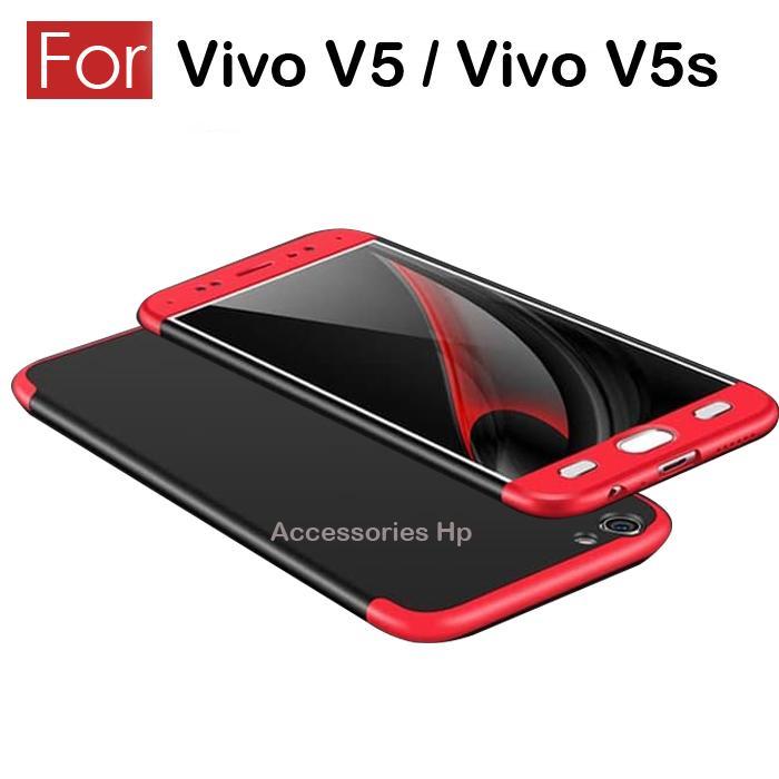 Accessories Hp CASE GKK Hardcase 360 Full Protective For Vivo V5 / Vivo V5s - Hitam