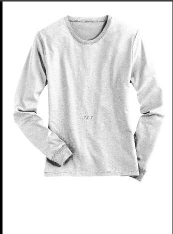 Kaos Polos Lengan Panjang Katun Putih XL - XXL Big Size Jumbo