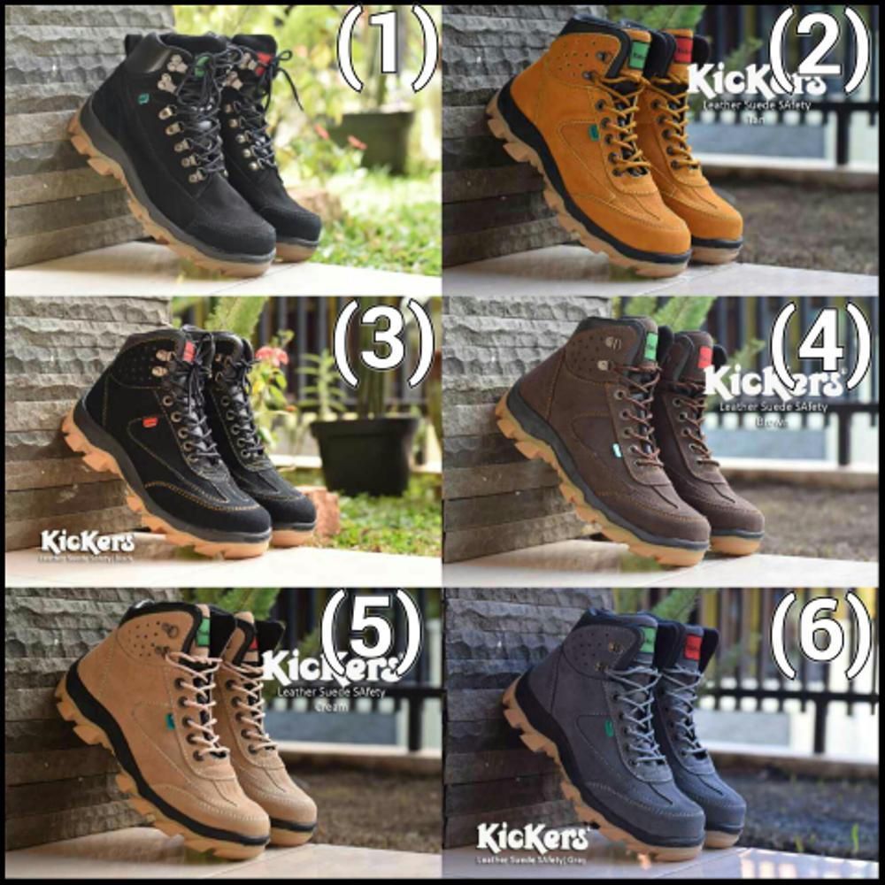 TERLARISS !!! sepatu Boots Kickers leather safety mercy suede