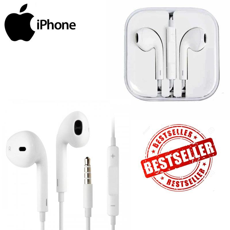 ... Apple Earphone / Headset / Handsfree For iPhone 4/5/6 White fREE Kabel