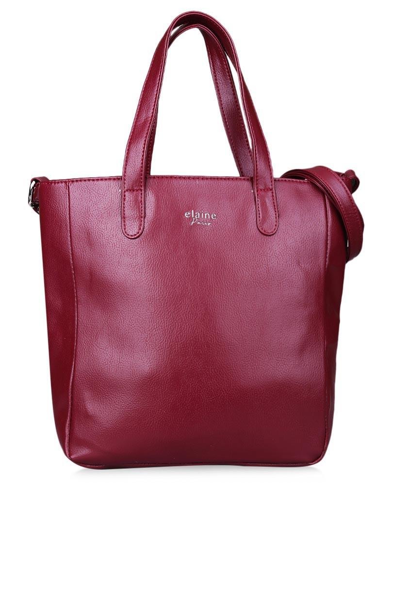 Tas Wanita Tote Bag Wanita Kasual Elaine 32MR005511 - Maroon