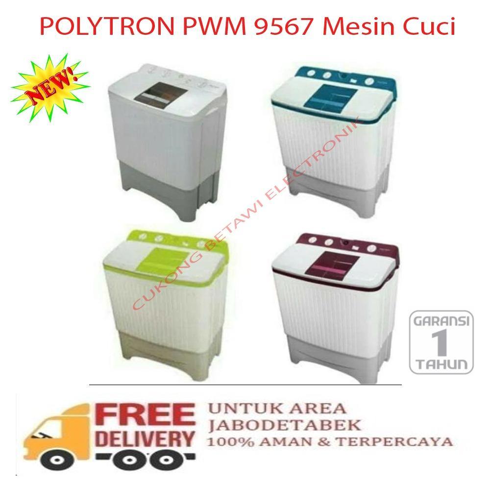 Polytron Mesin Cuci 1 Tabung Zeromatic Belleza 95kg Paw 9513 Khusus 75kg 7513n Coklat Pwm 9567 Cap 9 5 Garansi Resmi