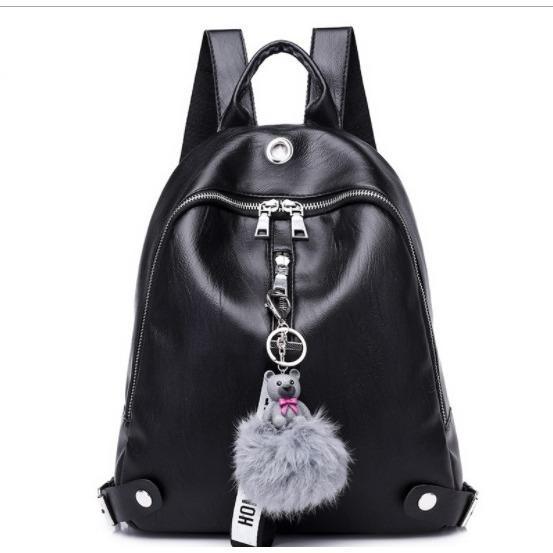[0930020514] Tas Ransel Wanita Fashion Import Black .