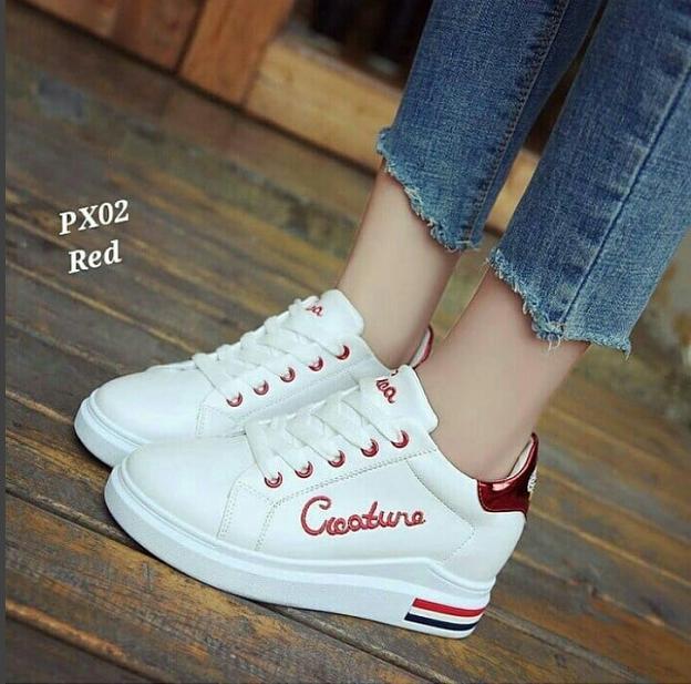 Kelebihan Sepatu Wanita Sneaker Putih Fx Merah List Merah Hitam Sol ... 7d520c8b27