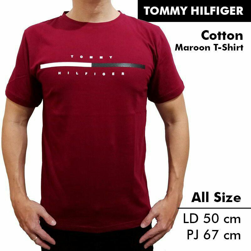 Kaos / Tshirt Tommy Maroon