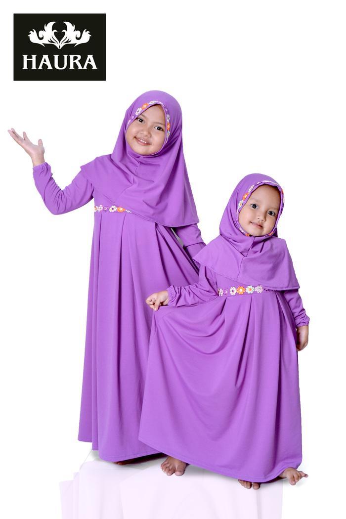 baju muslim/gamis anak perempuan cantik lucu - Ungu
