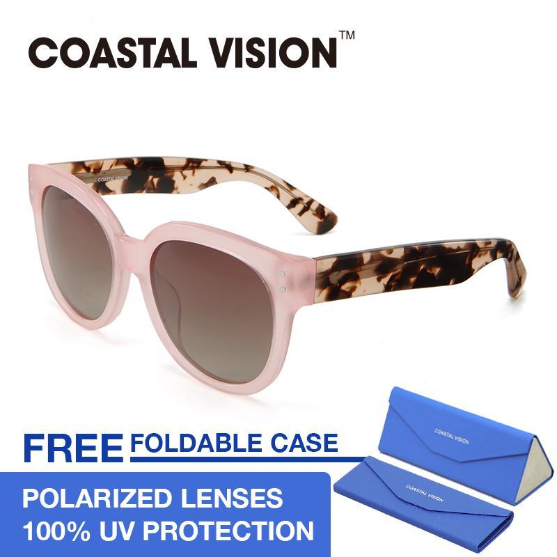 Jual Cepat Coastal Vision Kacamata Polarized Wanita Pink Oversize Lensa Anti Uva B Cvs5032
