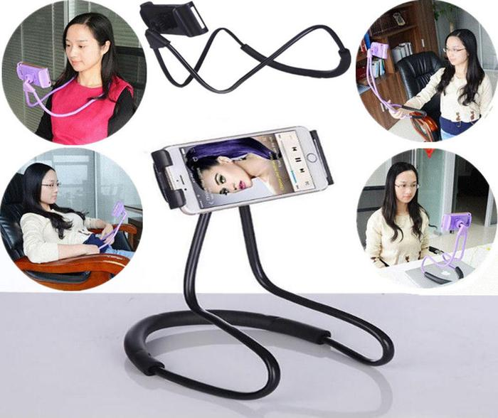 Holder Leher HP Lazy hanging neck cell Phone Stand Mount necklace Holder Leher HP Lazy hanging