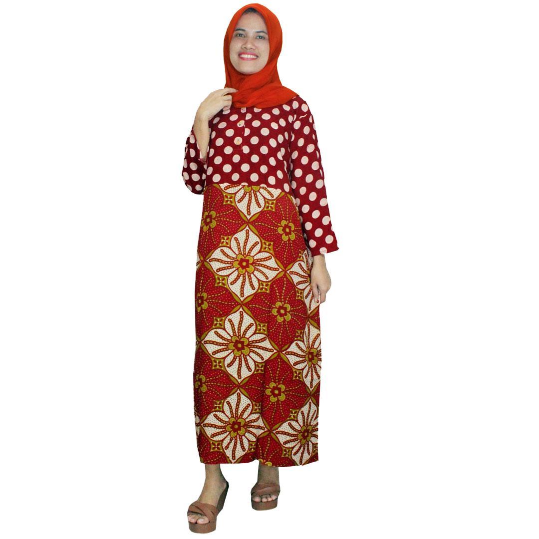 Pakaian Muslim Santai, Longdres Batik, Kancing, Bumil - Busui (LPT001-99) Batikalhadi Online