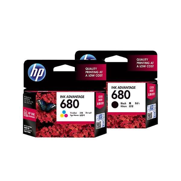 Cartridge HP 680 Black dan 680 Color Original Ink Advantage Cartridge