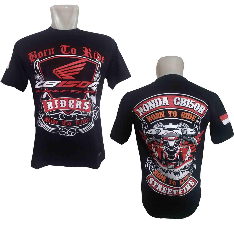 harga CADEL Kaos CB150R Streetfire Baju Distro Bikers Honda Motor BONUS Stiker CADEL Bandung Lazada.co.id