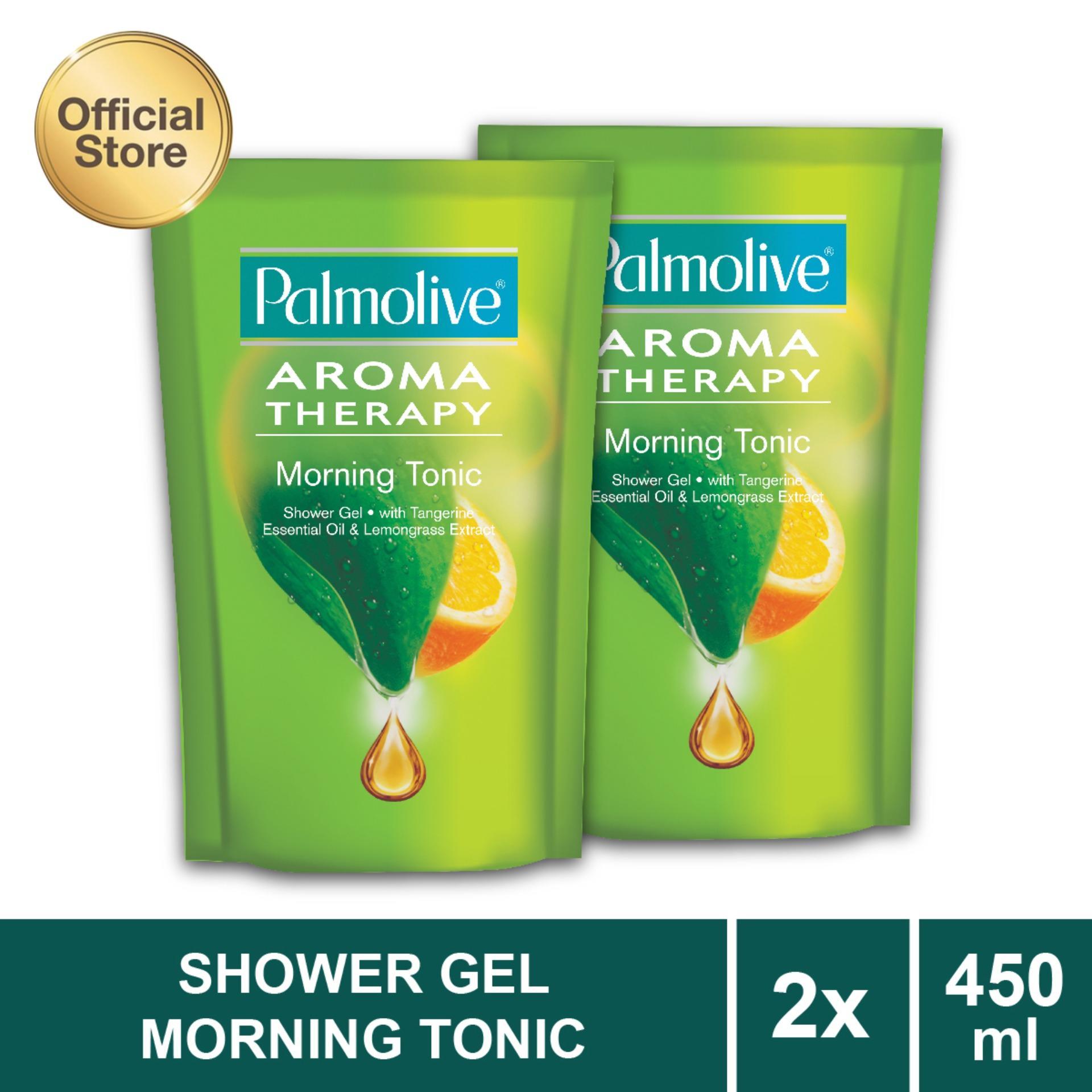Palmolive Aroma Therapy Morning Tonic Shower Gelsabun Mandi Gel Sabun 450ml Aromatheraphy Twin Pack
