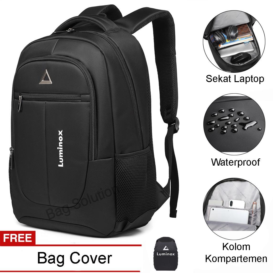 luminox tas ransel laptop tas pria tas wanita tas punggung tas sekolah tas outdoor tas kerja tas kuliah hffh – free bag cover