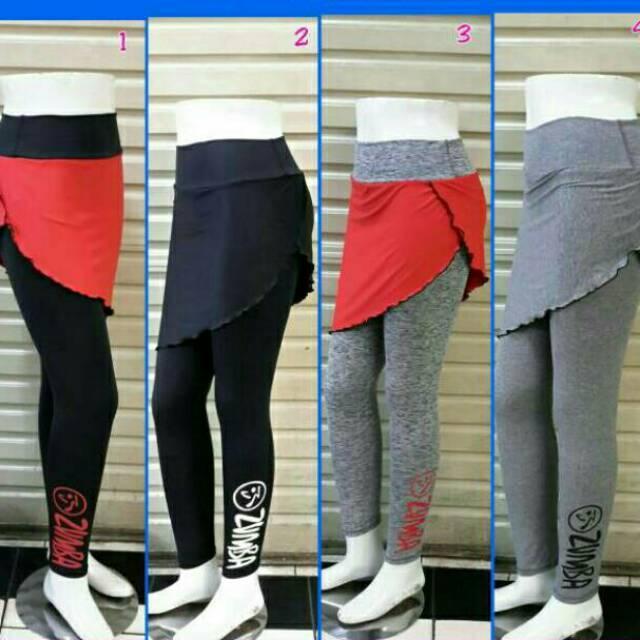 Celana legging rok zumba / senam/ leging / pakaian sport olahraga wanita murah rok Variasi
