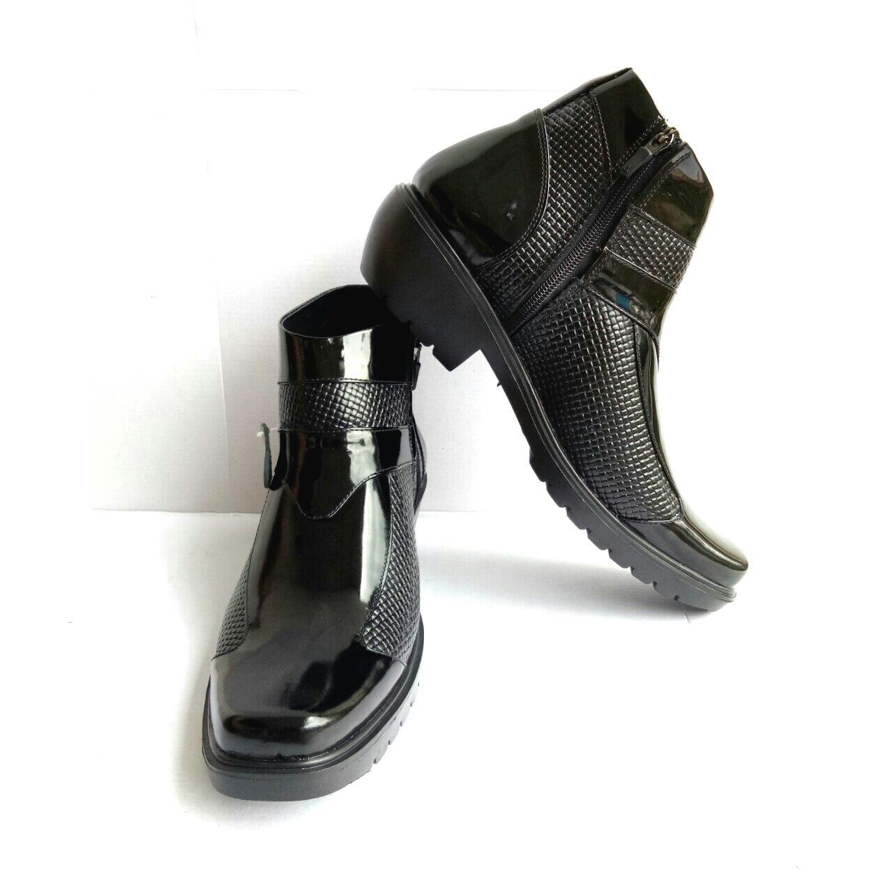Mandiens Sepatu Boots Jenggel Kulit Asli Original Medali PDH K.383 Export Quality - 4