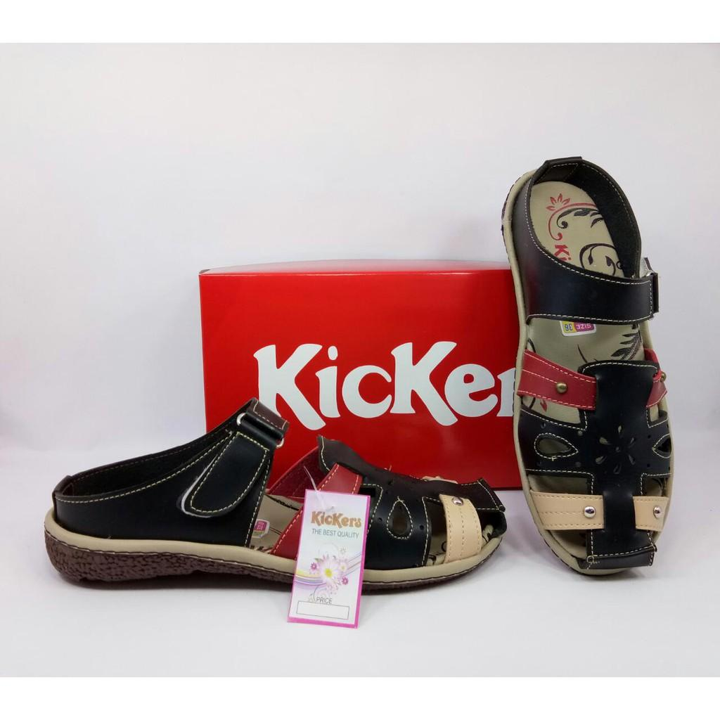 Sandal Kickers Wanita Sepatu Kickers Flat Shoes Kode MK-24